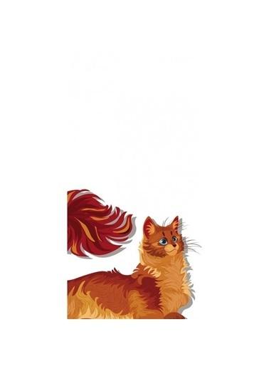 Artikel Minnoş Kedi Desenli -2 Dekoratif Çift Taraflı Yastık Kırlent Kılıfı 45x45 cm Renkli